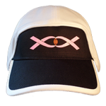 football hat breast cancer double pink ribbon with football front