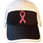 football hat breast cancer fuzzy pink logo front
