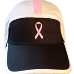football hat breast cancer pink logo with stripe front