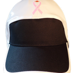 football hat breast cancer ribbon  with football shiny front